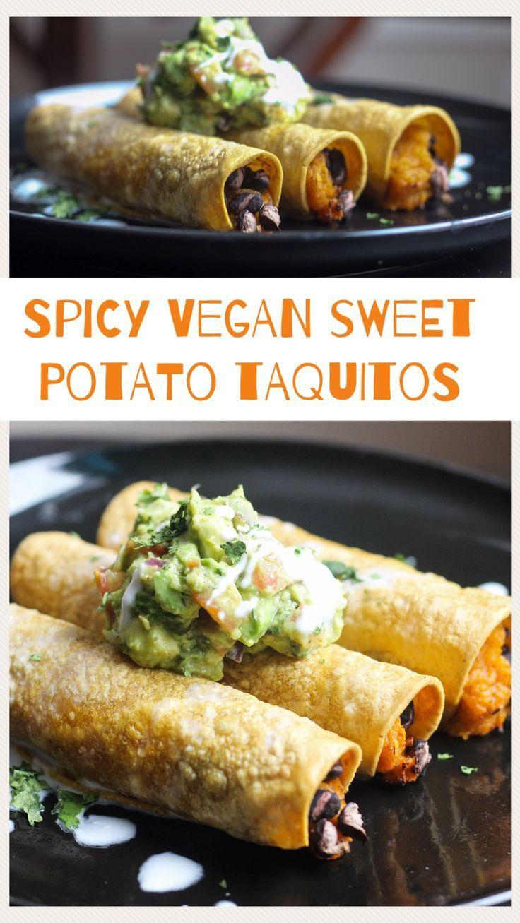 Spicy Sweet Potato & Black Bean Taquitos Recipe Air