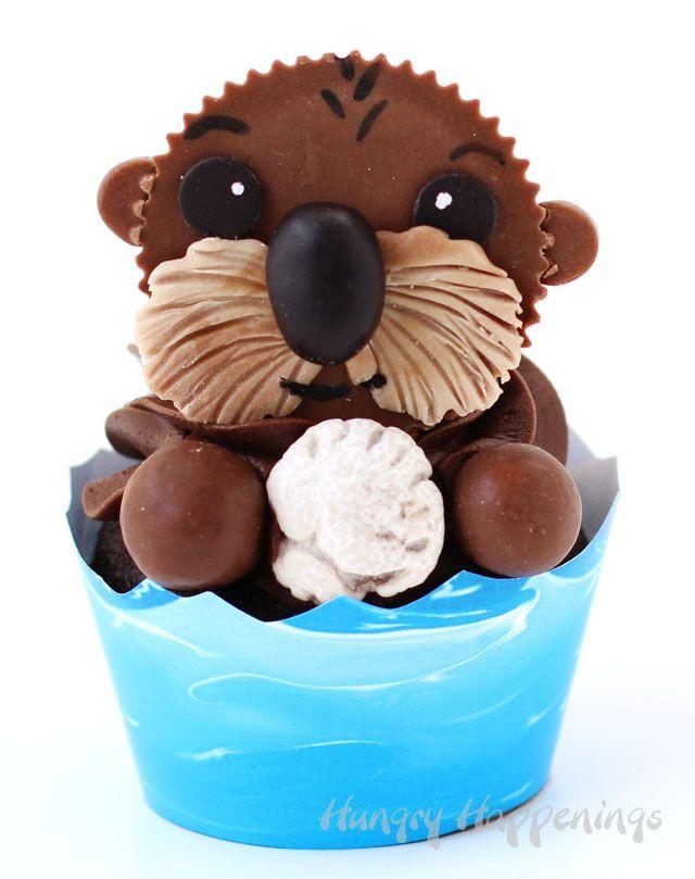 Sea Otter Cupcakes Finding Dory Treats Recipe Cupcake Cakes