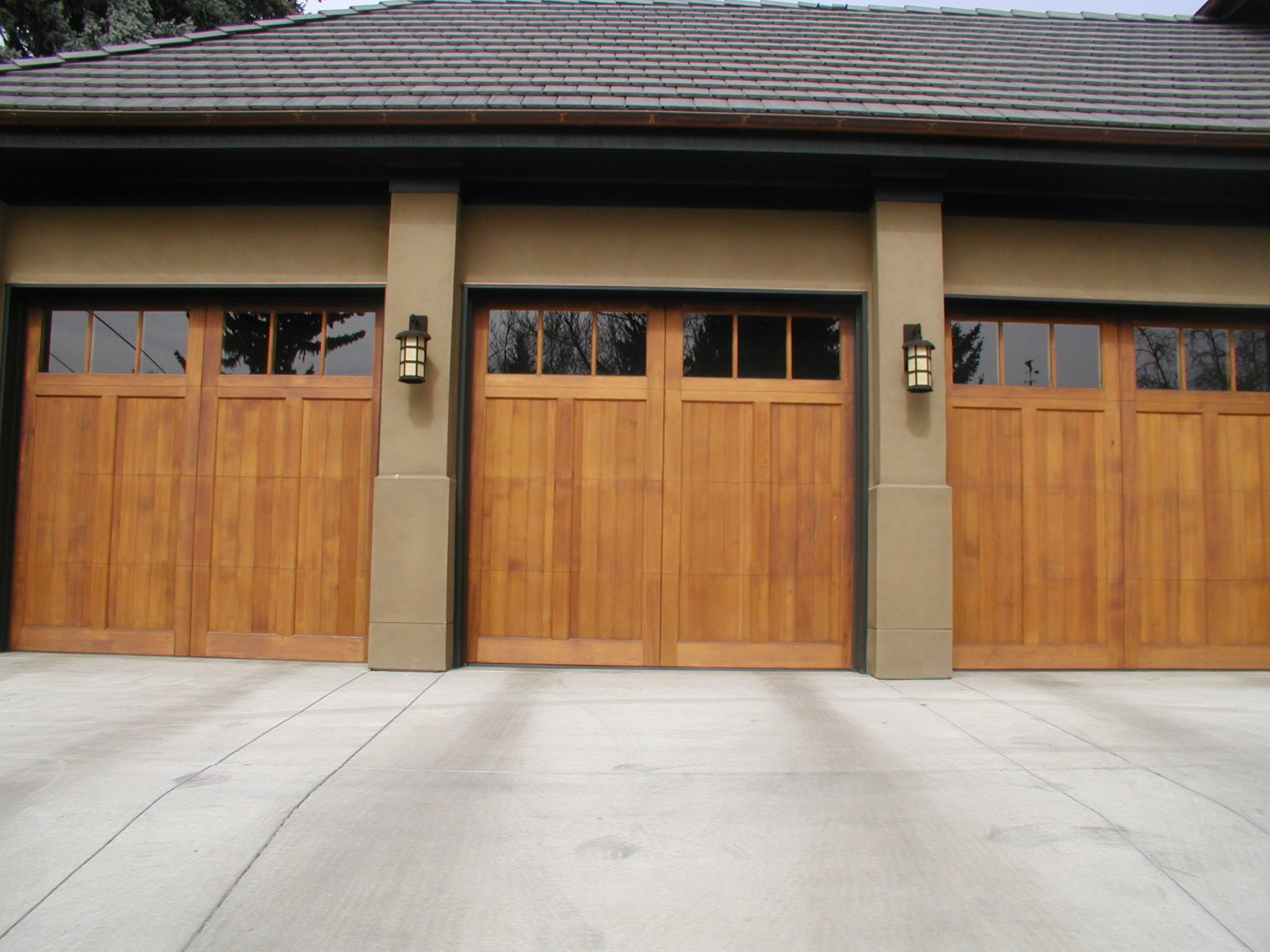 A And J Garage Doors Hand Crafted Wood