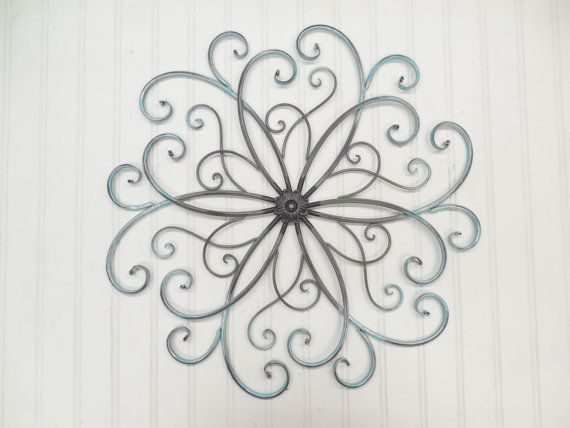 Faux Wrought Iron Wall Art-You Pick Colors/Silver/Metal