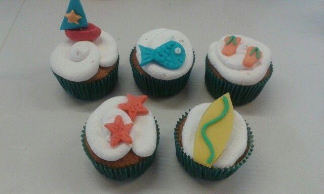 Ponquesitos Playeros para tus celebraciones, refrescantes a la vista y dulces al paladar