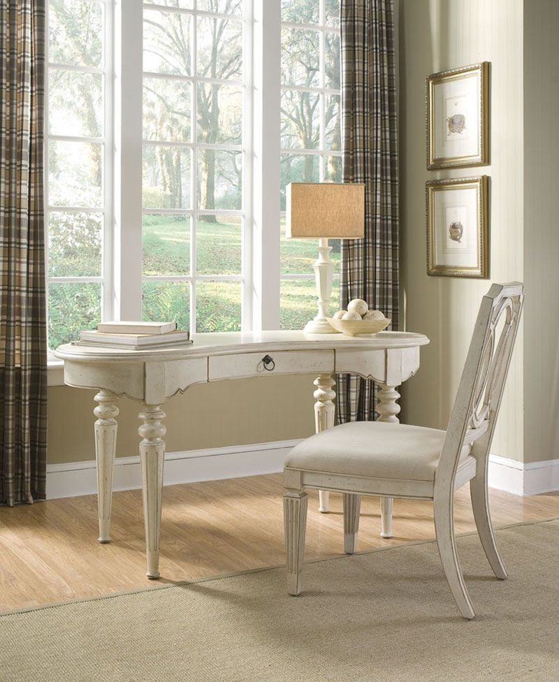 A R T Furniture S Provenance Collection Writing Desk Linen And Side Chair Linen The Finish Is Characterized By Dry Brushi Home Liberty Furniture Furniture