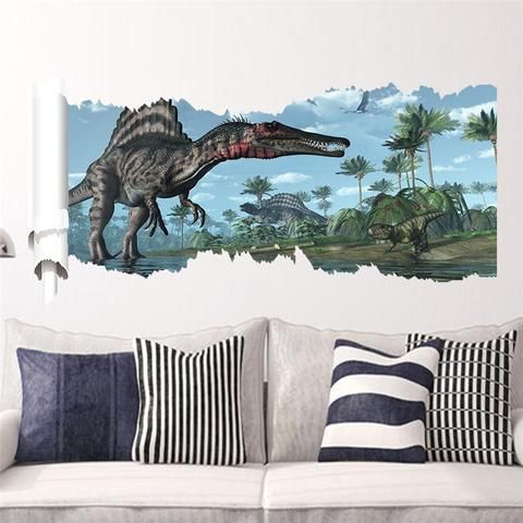 Jurassic Park 3D Wall Decal Removable Vinyl Sticker Dinosaurs Wall Sticker