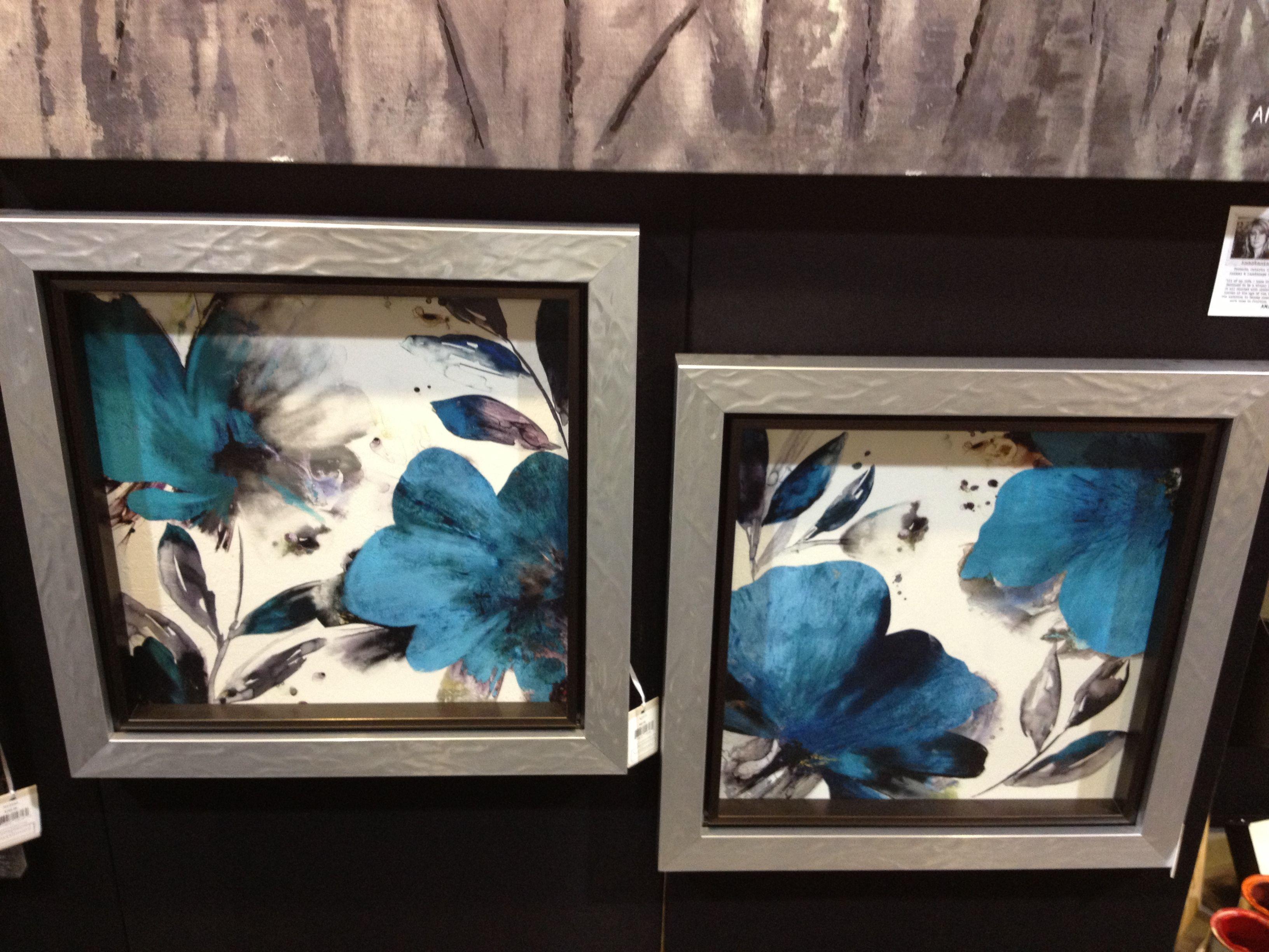 Blue Floral Prints SOLD OUT www.lambertpaint.com