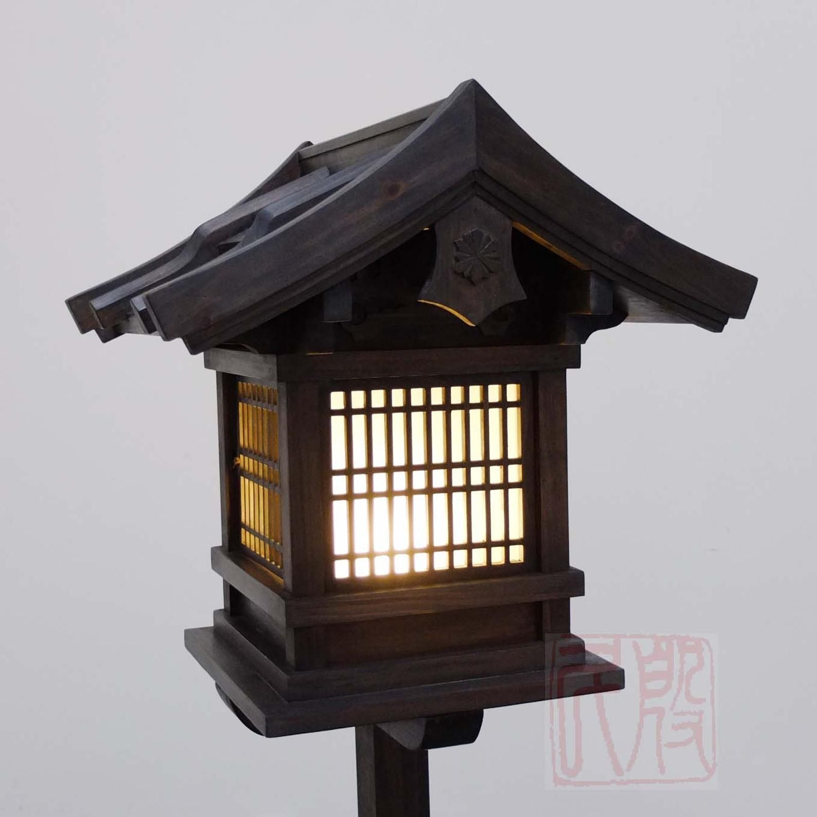 Japanese Style Lantern Made Of Solid Fir Wood Wl2 Etsy Japanese Lanterns Wooden Lanterns Japanese Lamps