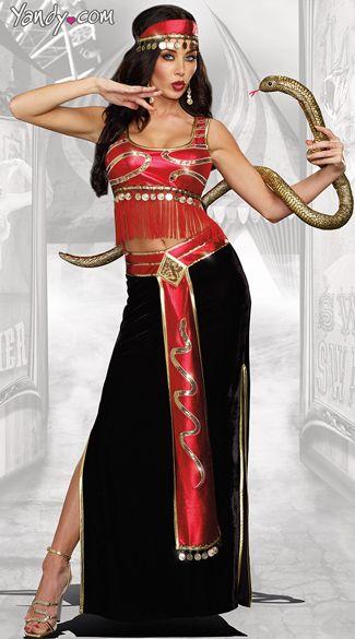 womens snake charmer halloween costume
