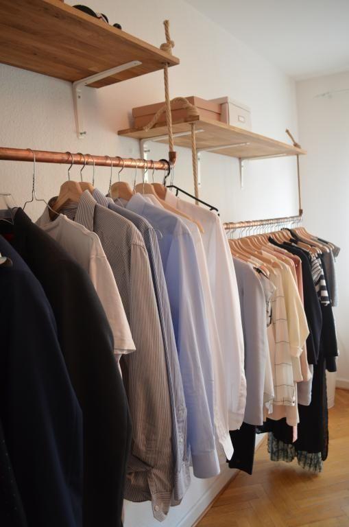Kleiderschrank Diy DIY-Regal und DIY-Kleiderstangen zur besseren Aufbewahrung un…