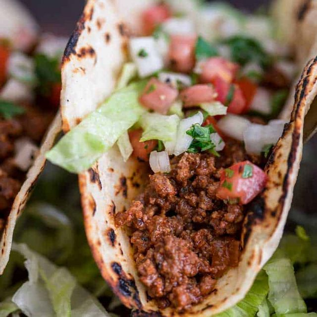 Easy Ground Beef Tacos (KevinIsCooking) #groundbeeftacos