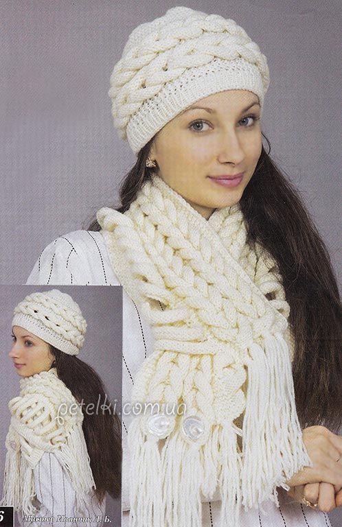 вязаные шарфы и шали на спицах фото: 21 тыс изображений ...