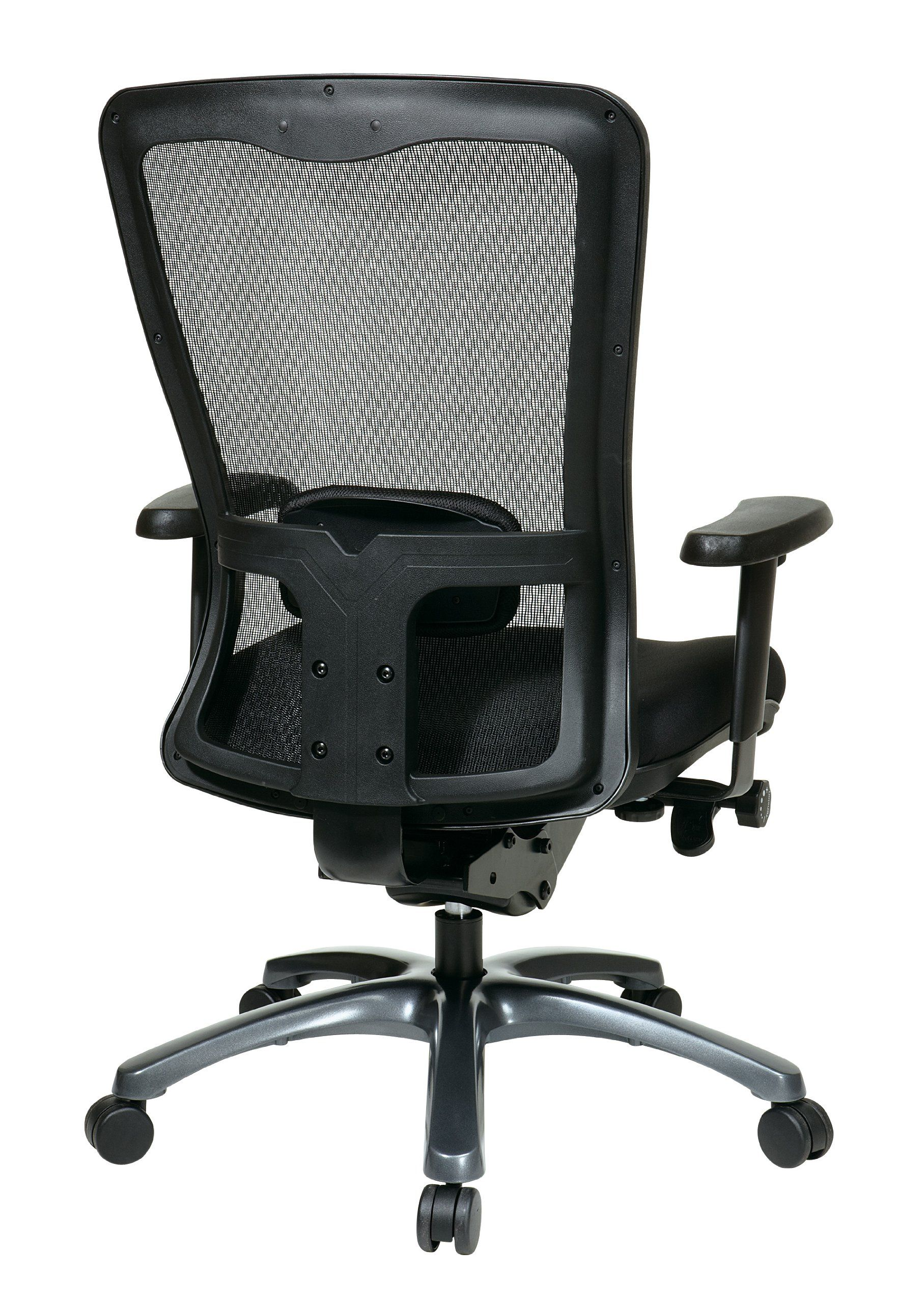 Office Star ProGrid Mesh Back and Padded Coal FreeFlex