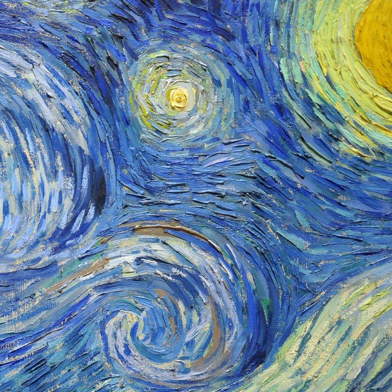 Starry Night (detail) | Van gogh art, Starry night van gogh, Vincent van  gogh