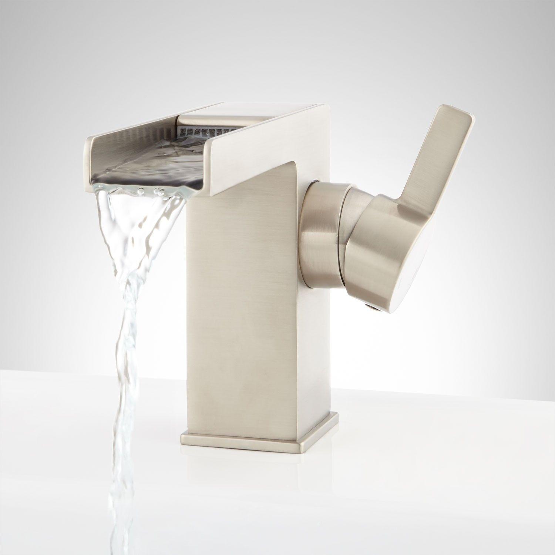 Walza waterfall single hole bathroom faucet