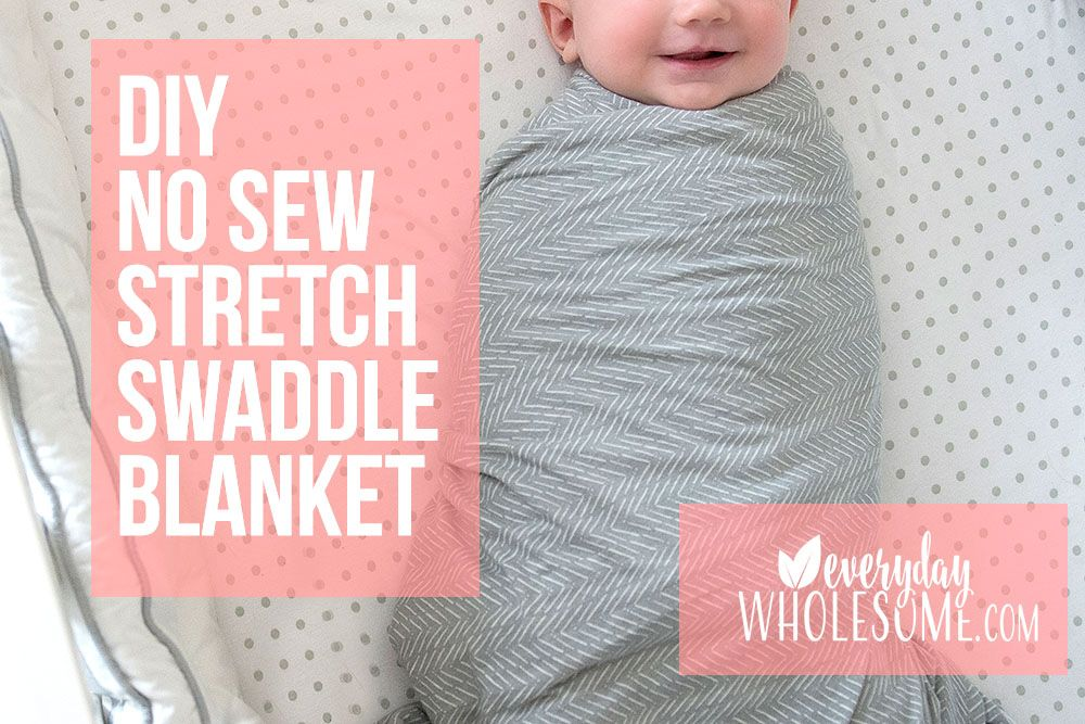 Stretchy Swaddle Blanket How To Make Diy Baby No Sew Swaddle Blanket Diy Diy Muslin Swaddle Blankets Diy Baby Stuff