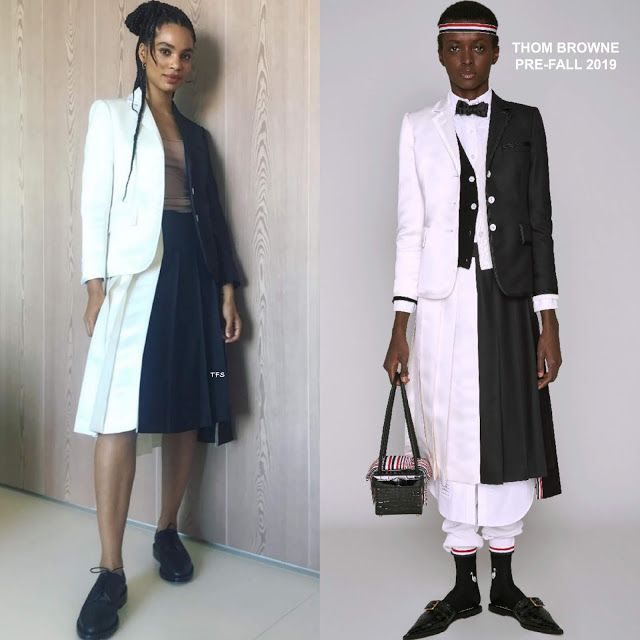 Instagram Style Nesta Cooper in Thom Browne to Promote