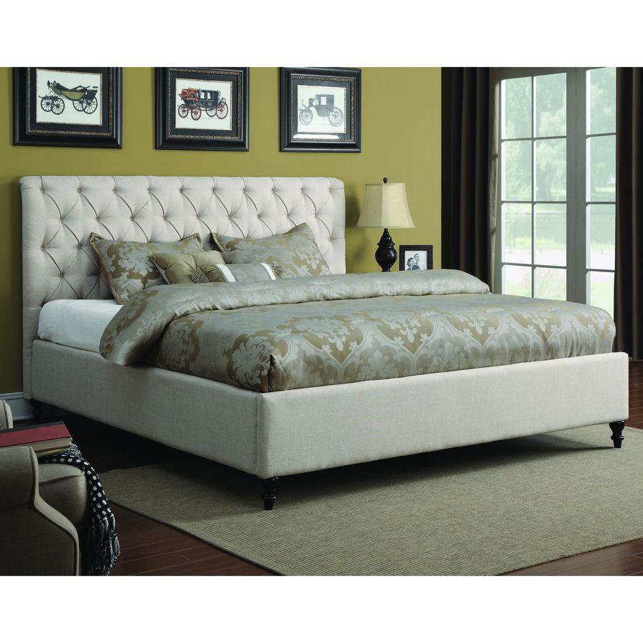 Coaster Fine Furniture Farrah Cream California King Upholstered