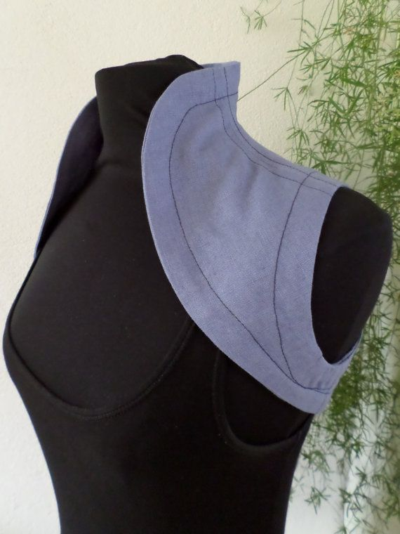 Padme vest/ bolero cornflower blue linen,  victorian, gothic, linen steampunk Star ,size 8