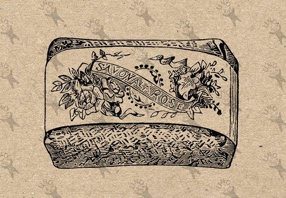 Jahrgang antike Soap Instant Download druckbare Bild von UnoPrint
