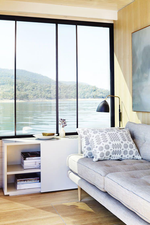 Lake eildon houseboat by pipkorn kilpatrick living room pinterest lakes living rooms and room