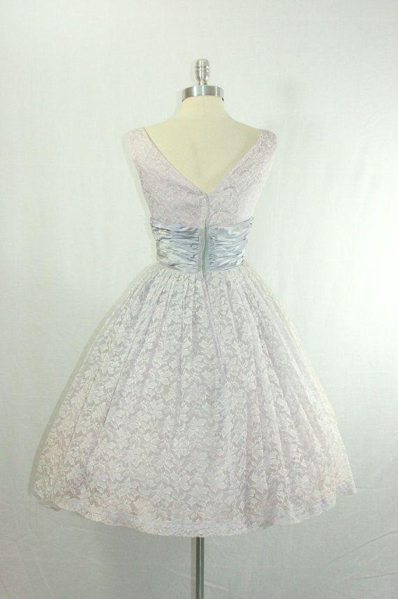 Pastel Dress 1950s Vintage Wedding Dress by VintageFrocksOfFancy ...