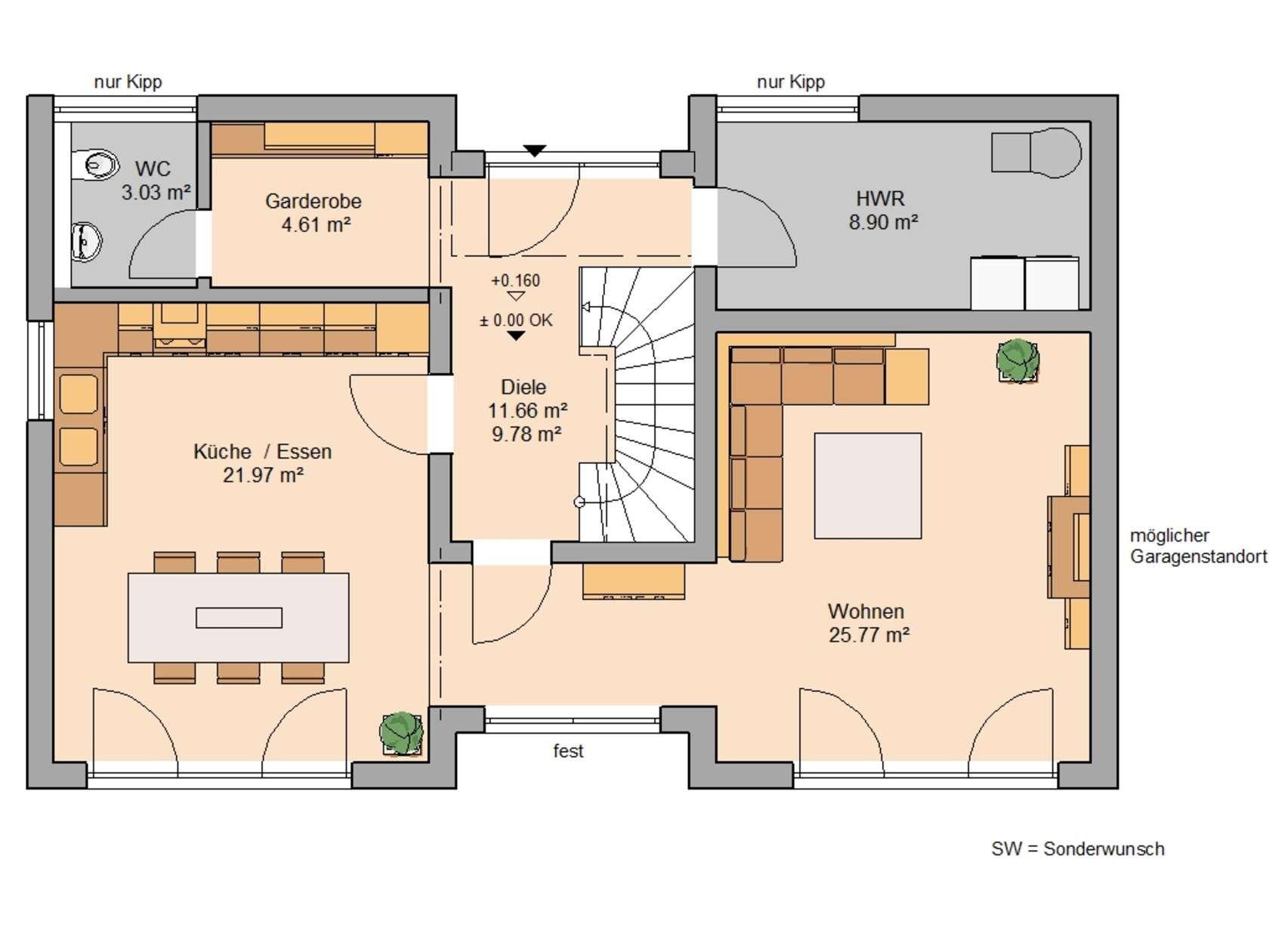 Familienhäuser Kern haus, Haus und Familienhaus