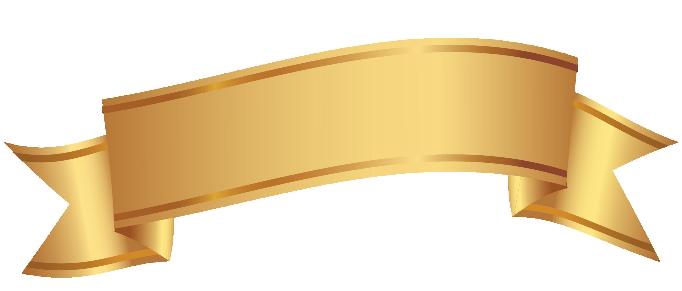 Golden Decorative Banner Template Design Clip Art Banner