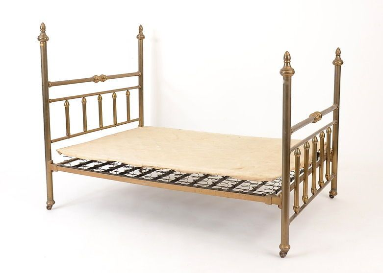 Vintage Brass Bed Frame and Box Springs | Bed frames, Brass bed and ...