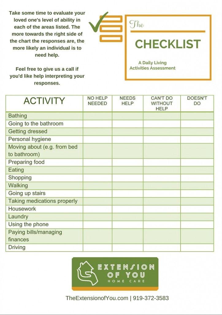 Image Result For Caregiver Daily Checklist Daily Checklist