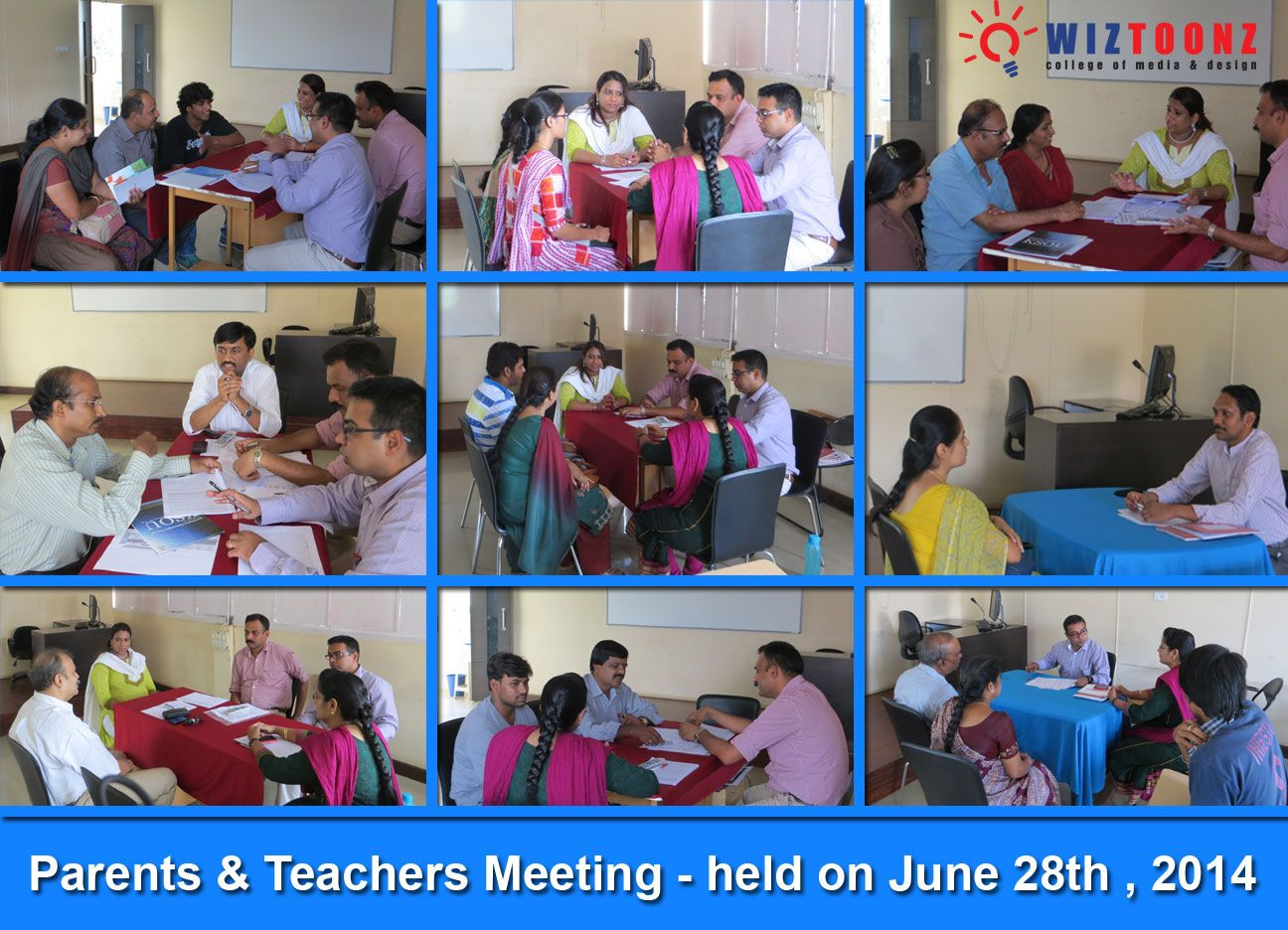 #‎Parents‬ & ‪#‎Teachers‬ Meeting - Conducted @ Wiz Campus - by Academic Dept. - on 28th June,2014 - with an objective of updating the parents with their ward's academic performance @Wiztoonz