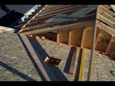 Two Different Examples For Installing Home Addition Roof Sheathing Soffit And Exposed Rafter Eaves Youtube Roof Design Porch Roof Styles Building A Porch