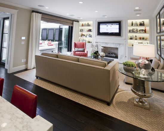 Exclusive Family Room Design And Furniture Arrangement Transitional Living With Small