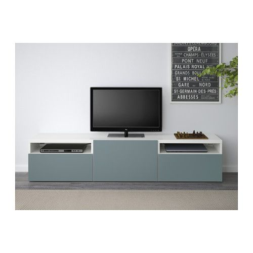 ikea best tv bench whiteselsviken high glossbeige cm the drawers and doors are soft closing so you can shut them silently without slamming - Meuble Tv Vintage Ikea