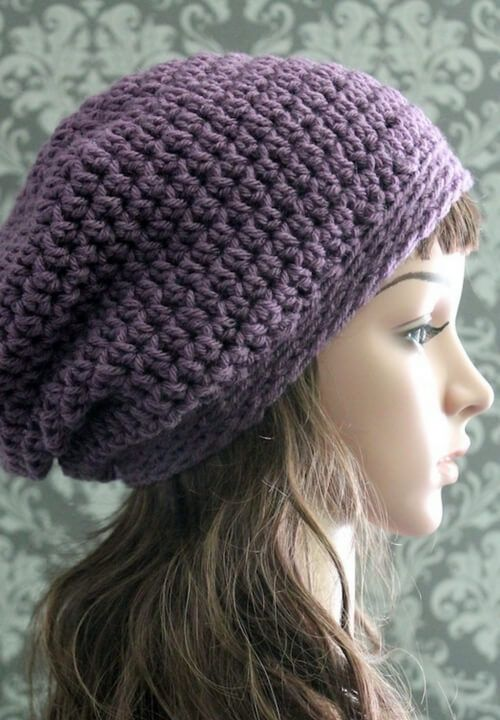 Free Crochet Slouchy Hat Pattern HATS Pinterest Slouchy Hat Delectable Free Crochet Slouchy Hat Patterns