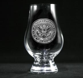 Engraved Army Glencairn Whisky Glass
