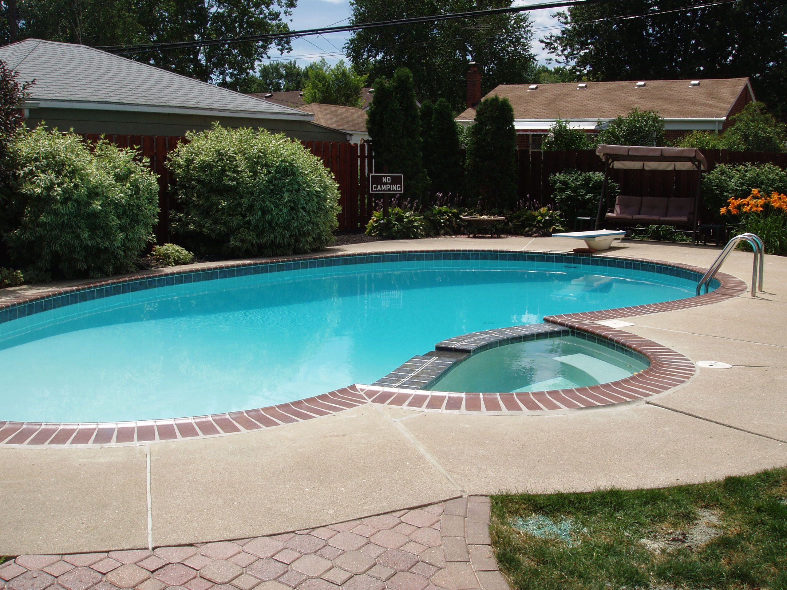 Small built in pool designs 18 x 38 brick coping with for In ground pool coping ideas