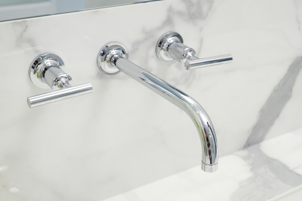 Bathroom Kohler Purist Wall Mount Faucet In Chrome Faucet Sink Wall Mount Faucet Kohler wall mount tub faucet