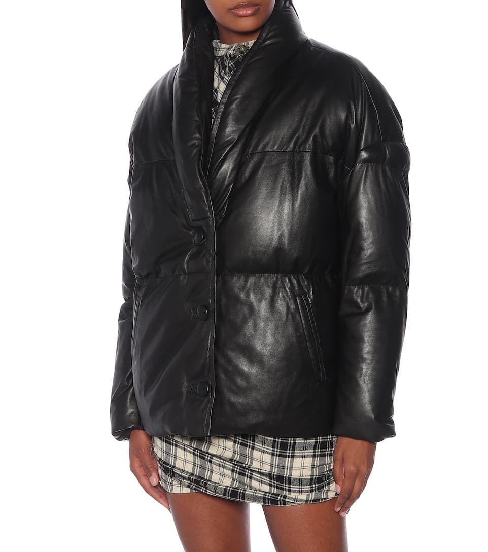 Isabel Marant Etoile Carterae Leather Puffer Jacket Mytheresa Leather Puffer Jacket Puffer Jackets Jackets [ 1088 x 962 Pixel ]