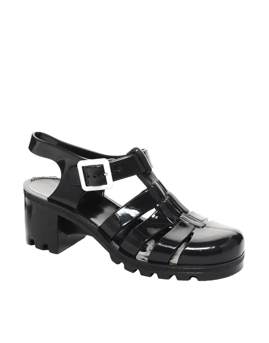 a57a977d0306 Juju Babe Black Heeled Jelly Sandals