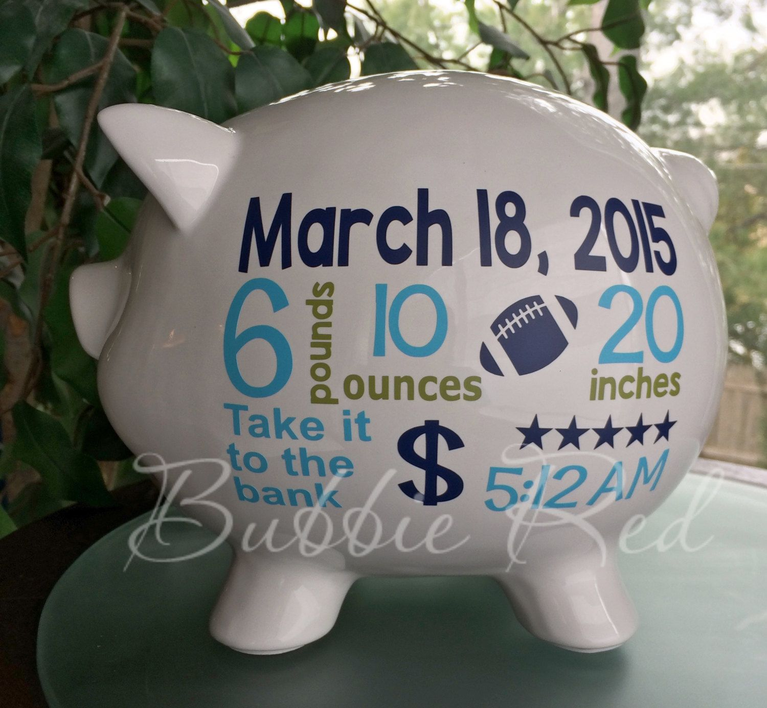 Personalized piggy bank baby boy piggy bank baby birth stats personalized piggy bank baby boy piggy bank baby birth stats gift baby boy negle Choice Image