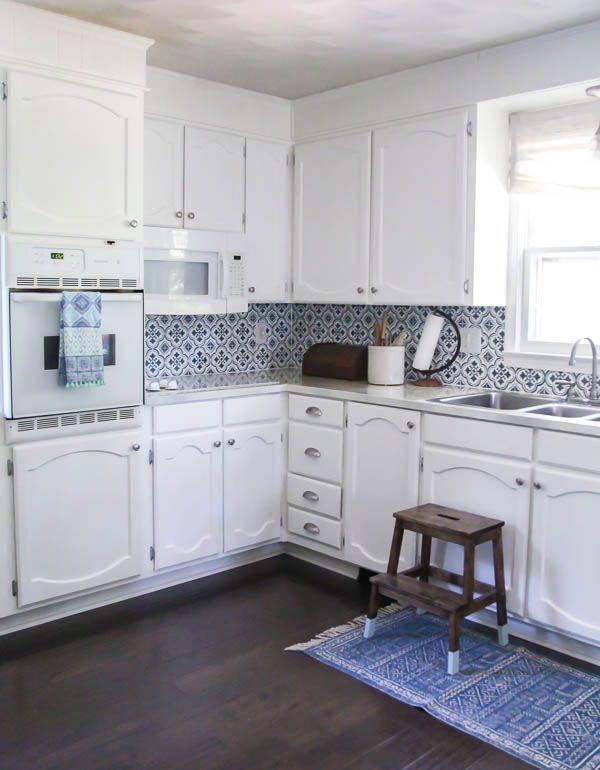 Bright White Kitchen Makeover on a Budget   White kitchen ...