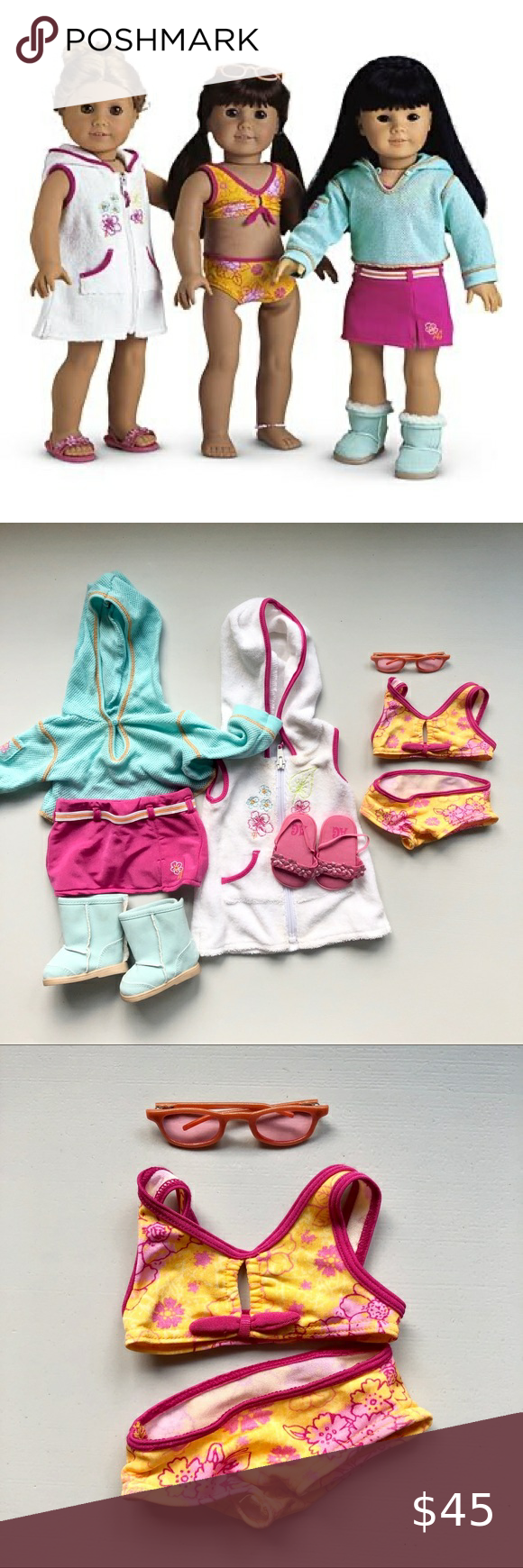 American Girl Seaside Wardrobe Beach Beaded Anklet for Doll Only