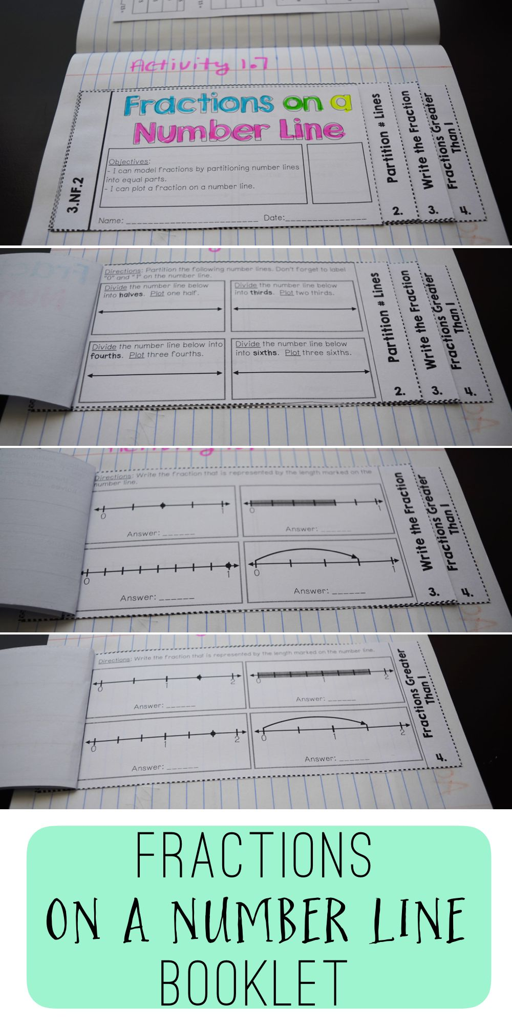 3rd grade fractions interactive notebook fractions decimals fractions booklet part of a third grade fractions interactive notebook set includes math menus and rubrics to help keep interactive notebooks organized fandeluxe Choice Image