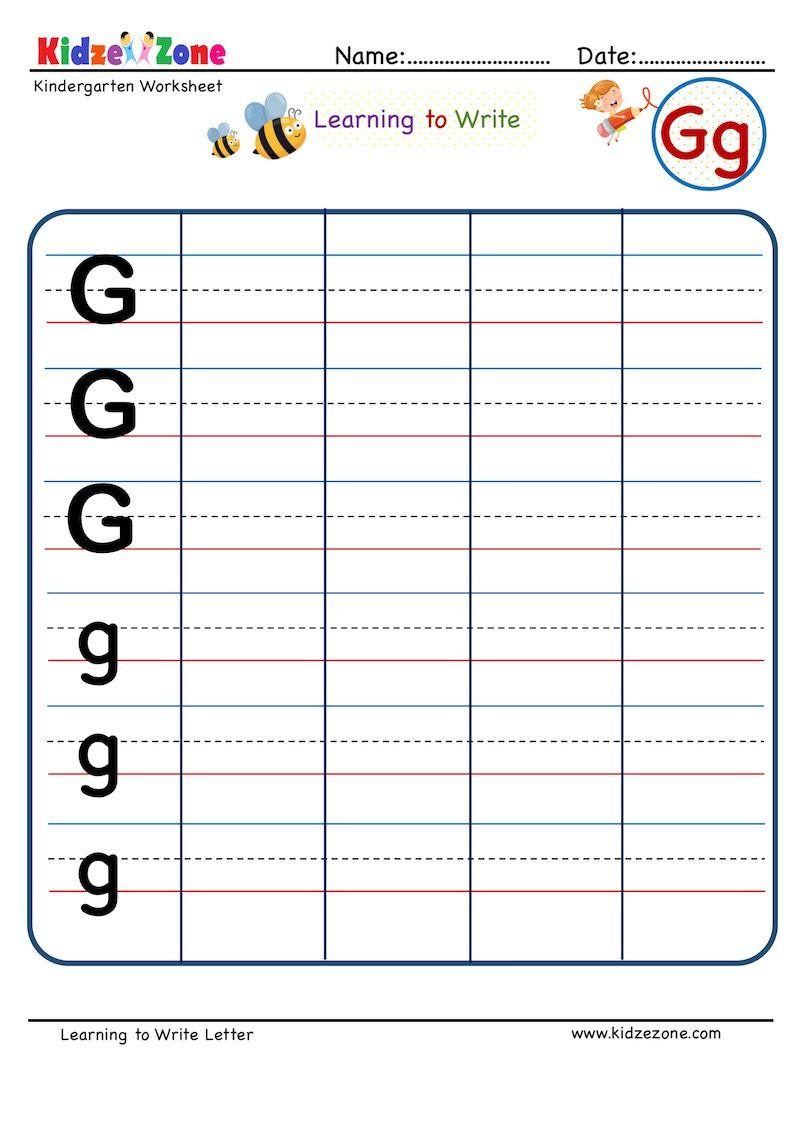 Kindergarten Letter G Writing Worksheet Writing On Line Letter Writing Kindergarten Kindergarten Letters Writing Worksheets [ 1125 x 803 Pixel ]