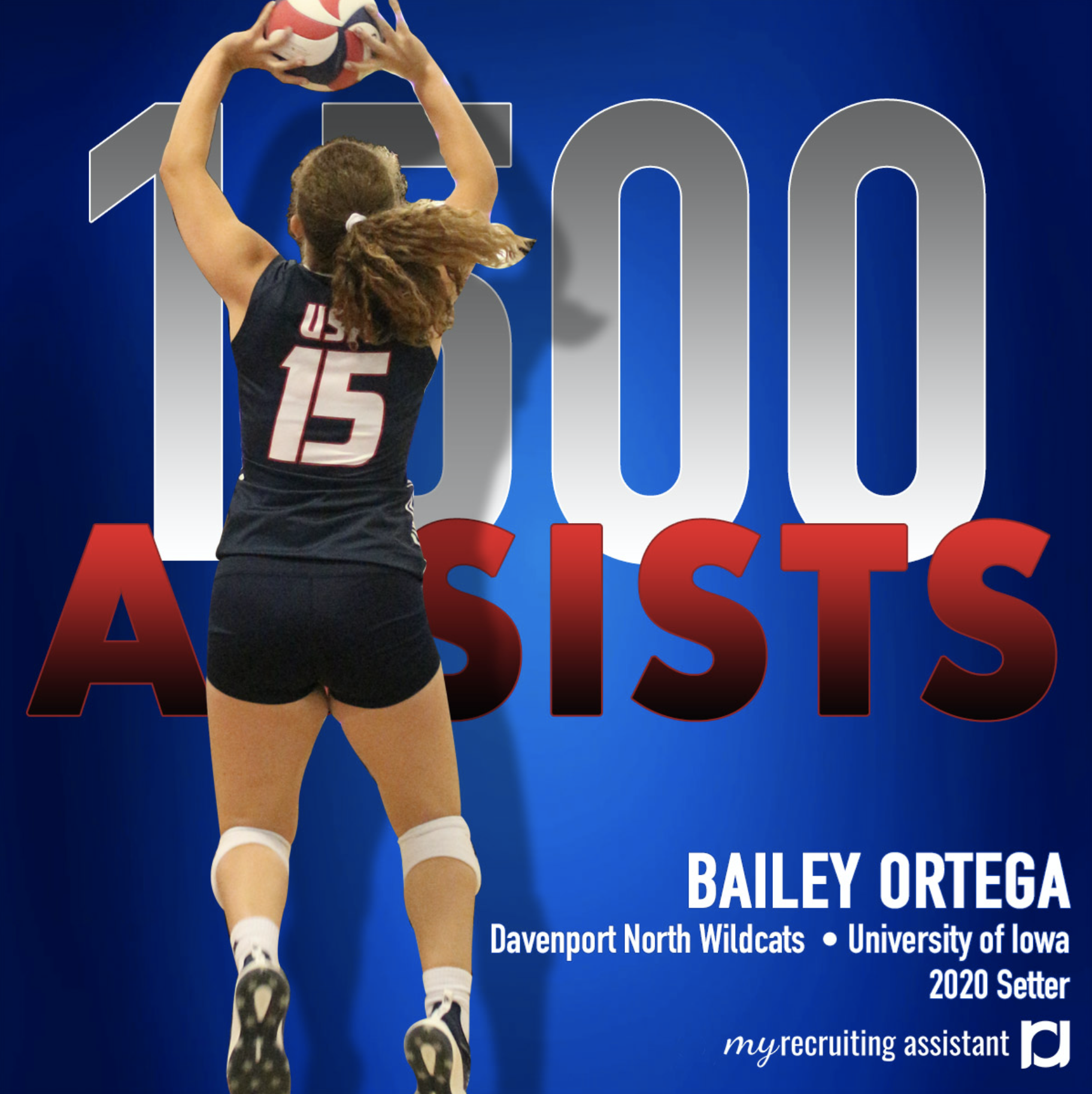 Bailey Ortega Class Of 2020 Setter Committed To The University Of Iowa The University Of Iowa Recruitment Class Of 2020