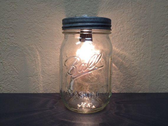 Mason jar light.