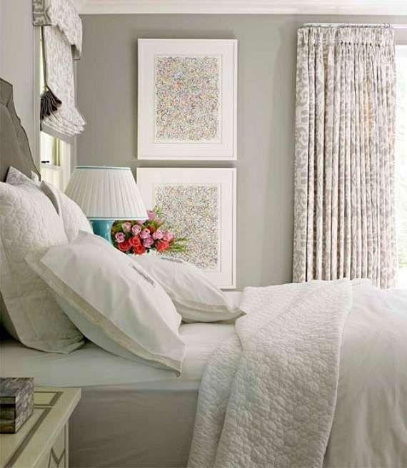 Idee camera da letto color tortora - Camera da letto romantica