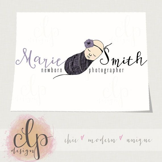 Newborn photography logo by clp design newborn prop shop logo by clp design
