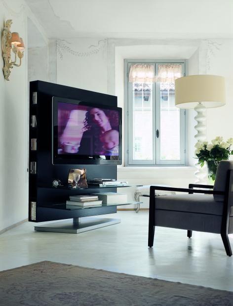 Modern Living Room Lcd Tv Stand Wooden Design Fa18b: Media Centre Floor Rotating TV Unit