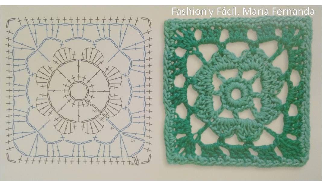 Encantador Granny Libre De Patrones De Crochet Cuadrado Para ...