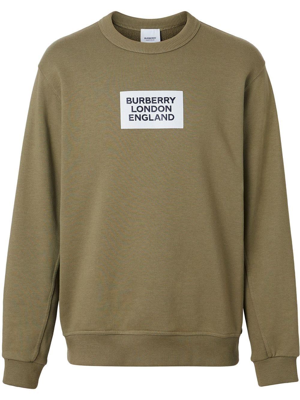 Burberry T Shirts Burberry Logo Print Cotton Sweatshirt Green Burberry T Shirts Cotton Sweatshirts Sweatshirts Mens Sweatshirts [ 1334 x 1000 Pixel ]