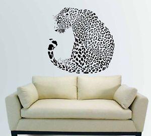 Cat Wall Decor huge leopard cheetah jaguar cat wall art mural vinyl decal sticker